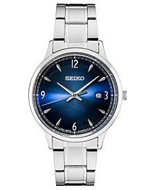 Seiko Men's Essentials Stainless Steel Bracelet Watch 40.6mm