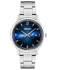 Seiko Men's Essentials Stainless Steel Bracelet Watch 40.6mm