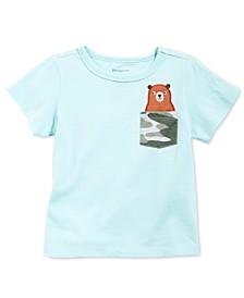 Baby Boys Cotton Bear Pocket T-Shirt, Created for Macy's