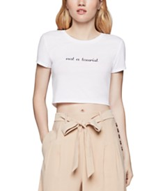 BCBGeneration Not A Tourist Cropped T-Shirt