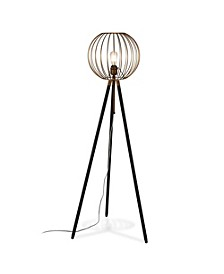 Paramon Floor Lamp In Antique Brass
