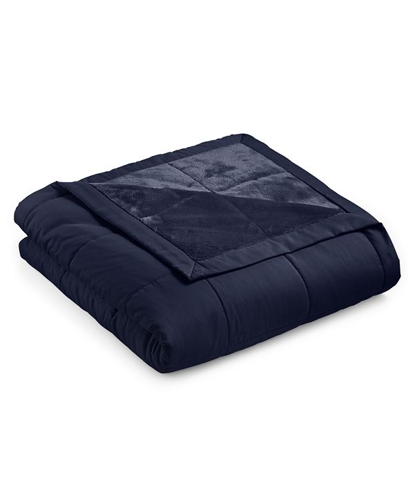 Martha Stewart Collection Down Alternative Reverse to Plush Twin Blanket, Created for Macy's