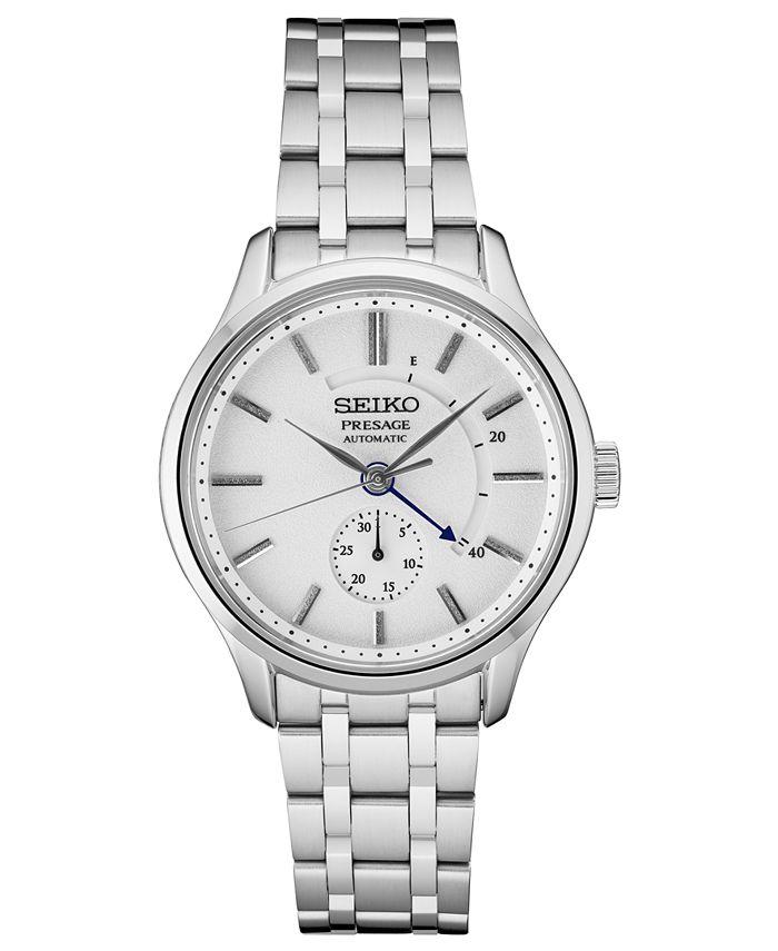 Seiko - Men's Automatic Presage Stainless Steel Bracelet Watch 42mm
