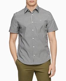 Calvin Klein Men's Slim-Fit Stretch Stripe Shirt