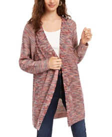 American Rag Juniors' Marled-Knit Cardigan, Created for Macy's