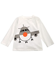 Toddler Boys Airplane-Print Cotton T-Shirt, Created for Macy's