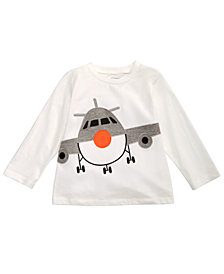First Impressions Baby Boys Cotton Airplane T-Shirt, Created for Macy's