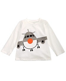 First Impressions Toddler Boys Airplane-Print Cotton T-Shirt, Created for Macy's