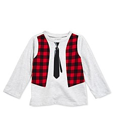 Baby Boys Vest-Print T-Shirt, Created For Macy's