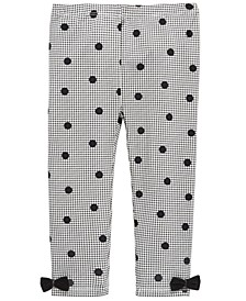 Toddler Girls Dot-Print Houndstooth Leggings, Created For Macy's