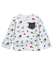 Toddler Boys Star-Print Pocket T-Shirt, Created For Macy's