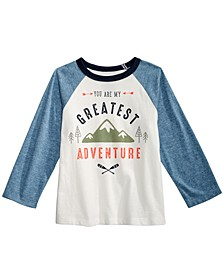 Baby Boys Cotton Colorblocked Raglan Graphic-Print T-Shirt, Created for Macy's