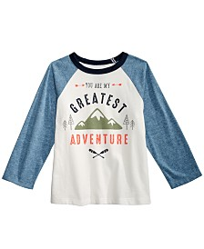 First Impressions Baby Boys Cotton Colorblocked Raglan Graphic-Print T-Shirt, Created for Macy's