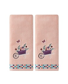 Saturday Knight Ltd Wheelbarrow 2 Piece Hand Towel Set