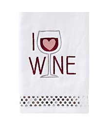 Ltd I Love Wine 2 Piece Hand Towel Set