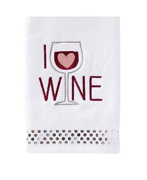 Saturday Knight Ltd I Love Wine 2 Piece Hand Towel Set