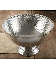 """KINDWER 17"""" Hammered Pedestal Punch Bowl"""
