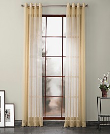 """Exclusive Fabrics Furnishings Grommet Solid Faux Linen Sheer Curtain 108"""" x 50"""" Curtain Panel"""