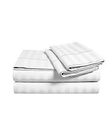 "Addy Home 18"" Extra Deep Pocket 3-piece Damask Stripe Sheet Set, Twin"