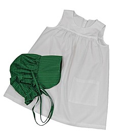 Little House on the Prairie Child's Size Apron and Bonnet