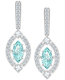 Silver-Tone Cubic Zirconia Marquise Drop Earrings