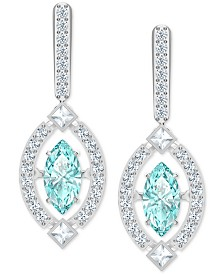Swarovski Silver-Tone Cubic Zirconia Marquise Drop Earrings