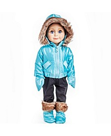 """18"""" Ski Wear Doll Clothes Outfit - 6 Piece"""