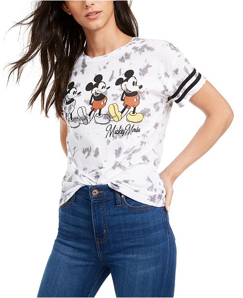 Freeze 24-7 Disney Juniors' Mickey Mouse Tie-Dye T-Shirt