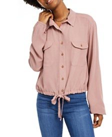 Self Esteem Juniors' Cargo-Pocket Drawstring Top