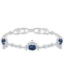 Silver-Tone Cubic Zirconia Statement Bracelet