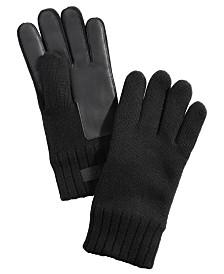 UGG® Men's Knit Leather-Patch Tech Gloves