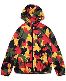 LRG Men's Leaf Camo Hooded Jacket