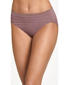 Jockey Seamfree Matte and Shine Hi-Cut Underwear 1306, Extended Sizes