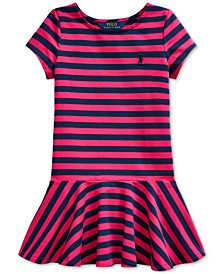 Little Girls Striped Jersey Skater Dress