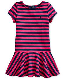 Polo Ralph Lauren Little Girls Striped Jersey Skater Dress