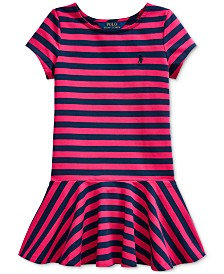 Polo Ralph Lauren Little Girls Striped Jersey Skater Dress