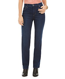 Petite High-Rise Natural Straight Jeans, Created For Macy's
