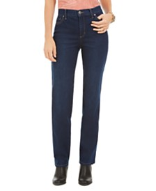 Style & Co High-Waist Straight-Leg Jeans, Created for Macy's