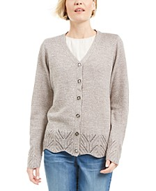 Scalloped-Hem Button Cardigan, Created for Macy's