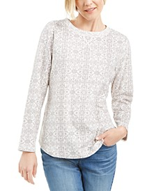 Sport Printed Microfleece Top, Created for Macy's