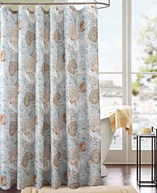 Classic Snail Printed Shower Curtain