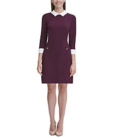 Collared Shift Dress, Regular & Petite Sizes