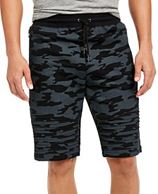 INC Men's Camo Moto Shorts, Created for Macy's
