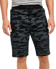 I.N.C. Men's Camo Moto Shorts, Created for Macy's
