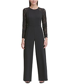 Lace-Sleeve Jumpsuit