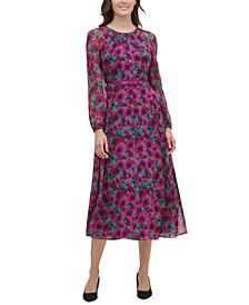 Petite Grove Floral Midi Dress