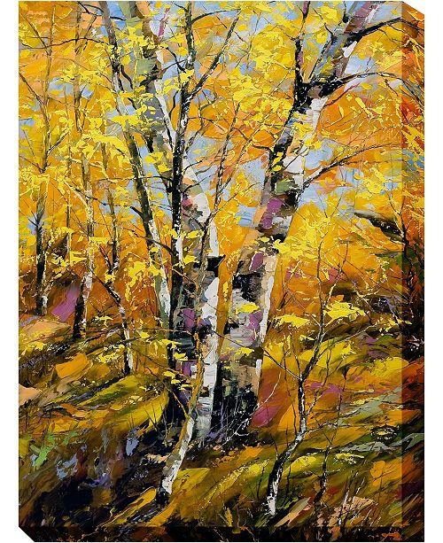"West of the Wind Golden Birch Outdoor Wall Art, 30"" x 40"""
