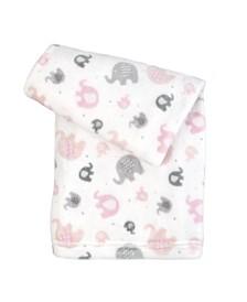 Ultra-Soft Micro Fleece Plush Elephant Baby Blanket