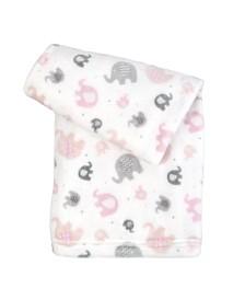 Tadpoles Ultra-Soft Micro Fleece Plush Elephant Baby Blanket