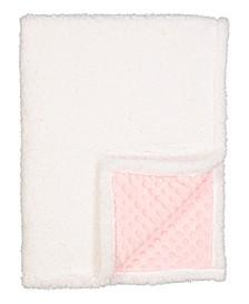 3 Stories Trading Infant Popcorn Mink Sherpa Blanket